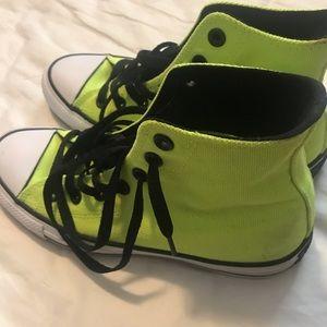 High top neon yellow converse